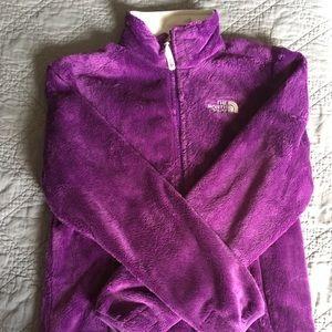 Jackets & Blazers - NWOT Purple fuzzy North Face zip up